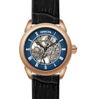 Invicta Men's 23538 'Specialty' Mechanical Black Leather Watch