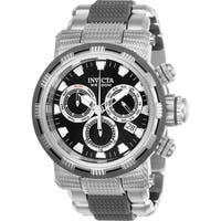Invicta Men's 23976 'Specialty' Gunmetal and Silver Polyurethane and Stainless Steel Watch