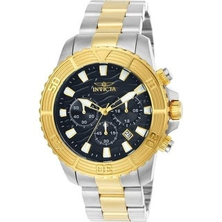 Invicta Men's 24003 'Pro Diver' Gold-tone and Silver Stainless Steel Watch
