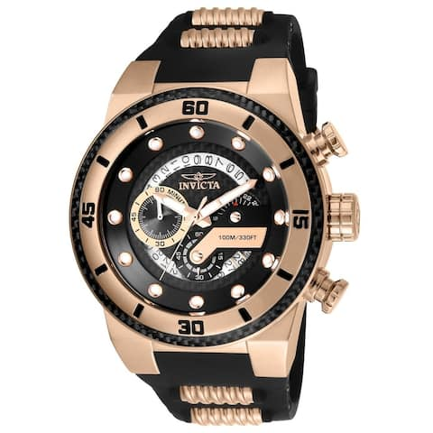 Invicta Men's 24226 'S1 Rally' Rose-tone and Black Polyurethane and Stainless Steel Watch