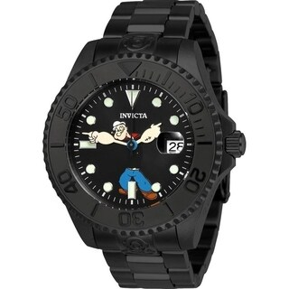 Invicta Men's 24471 'Character' Popeye Automatic Black Stainless Steel Watch