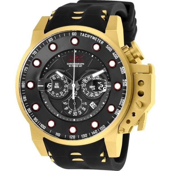 00efc5d32 Shop Invicta Men's 25272 'I-Force' Black and Gold-tone Polyurethane and Stainless  Steel Watch - Free Shipping Today - Overstock - 22749283