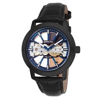 Invicta Men's 25268 'Objet D Art' Mechanical Black Leather Watch