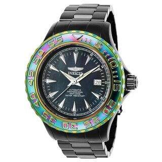 Invicta Men's 25565 'Pro Diver' Automatic Black Stainless Steel Watch