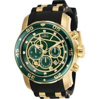 Invicta Men's 25708 'Pro Diver' Scuba Black and Gold-tone Inserts Polyurethane and Stainless Steel Watch
