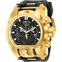 Invicta Men's 25607 'Reserve' Bolt Zeus Black and Gold-tone Polyurethane and Stainless Steel Watch