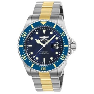 Invicta Men's 25716 'Pro Diver' Gold-tone and Silver Stainless Steel Watch