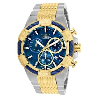 Invicta Men's 25865 'Bolt' Gold-tone and White Inserts Stainless Steel Watch