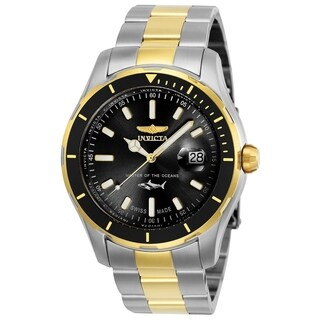 Invicta Men's 25814 'Pro Diver' Gold-tone and Silver Stainless Steel Watch