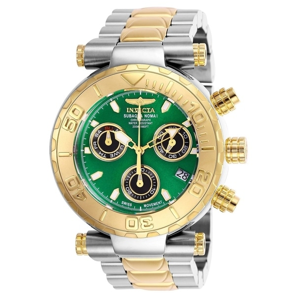Invicta Men's 25804 'Subaqua' Gold-tone and Silver Stainless Steel Watch