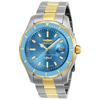 Invicta Men's 25817 'Pro Diver' Gold-tone and Silver Stainless Steel Watch