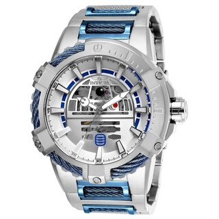 Invicta Men's 26206 'Star Wars' R2-D2 Automatic Blue and Silver Stainless Steel Watch