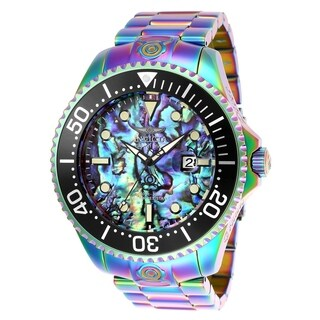 Invicta Men's 26332 'Pro Diver' Automatic Iridescent Stainless Steel Watch