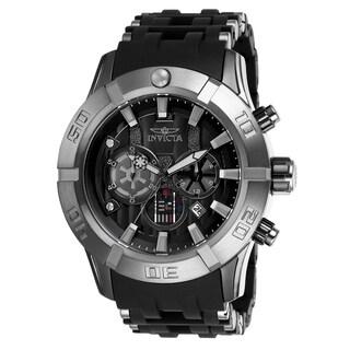 Invicta Men's 26548 'Star Wars' Darth Vader Black Polyurethane and Stainless Steel Watch
