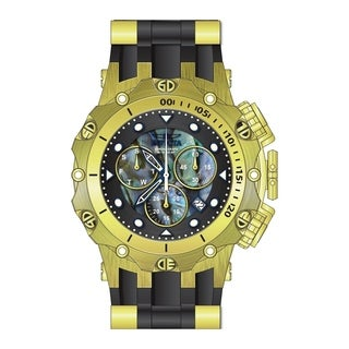 Invicta Men's 26589 'Venom' Venom Gunmetal and Silver Silicone Watch