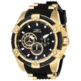 Invicta Men's 26818 'Bolt' Black and Gold-tone Inserts Polyurethane and Stainless Steel Watch