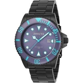 Invicta Men's 90297 'Pro Diver' Black Stainless Steel Watch