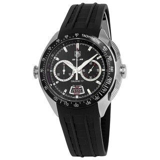 Tag Heuer Men's CAG2010.FT6013 'SLR Mercedes Benz' Chronograph Automatic Black Rubber Watch