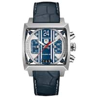 Tag Heuer Men's CAL5111.FC6299 'Monaco' Chronograph Automatic Blue Leather Watch