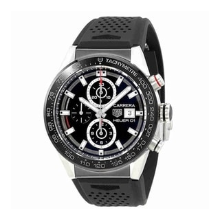 Link to Tag Heuer Men's CAR201Z.FT6046 'Carrera' Chronograph Automatic Rubber Watch Similar Items in Men's Watches