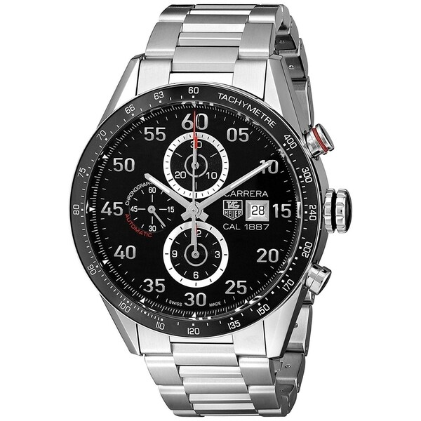 7b1843dfd11 Shop Tag Heuer Men's CAR2A10.BA0799 'Carrera' Chronograph Automatic  Stainless Steel Watch - Free Shipping Today - Overstock - 22749467