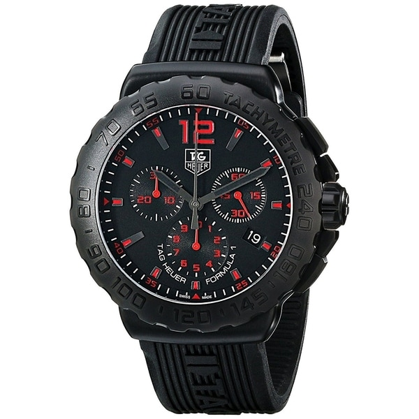 Tag Heuer Men's CAU111A.FT6024 'Formula 1' Chronograph Black Rubber Watch