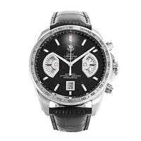 Tag Heuer Men's CAV511A.FC6225 'Grand Carrera' Chronograph Automatic Black Leather Watch