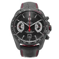 Tag Heuer Men's CAV518B.FC6237 'Grand Carrera' Chronometer Automatic Black Leather Watch