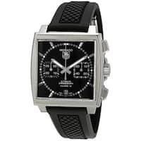 Tag Heuer Men's CAW2110.FT6021 'Monaco' Chronograph Automatic Black Rubber Watch