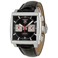 Tag Heuer Men's CAW2114.FC6177 'Monaco' Chronograph Automatic Black Leather Watch