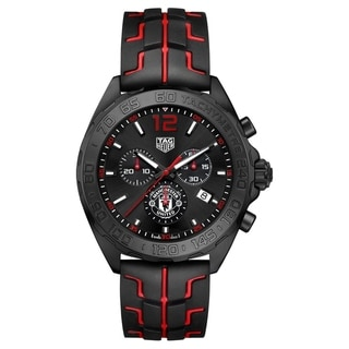 Link to Tag Heuer Men's CAZ101J.FT8027 'Formula 1' Chronograph Red and Black Rubber Watch Similar Items in Men's Watches