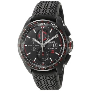 Tag Heuer Men's CBB2080.FT6042 'Carrera Senna' Chronograph Automatic Black Rubber Watch