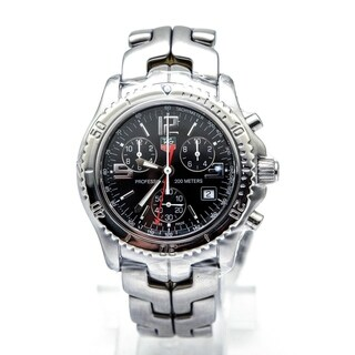 Link to Tag Heuer Men's CT1111.BA0550 'Link' Chronograph Stainless Steel Watch Similar Items in Women's Watches