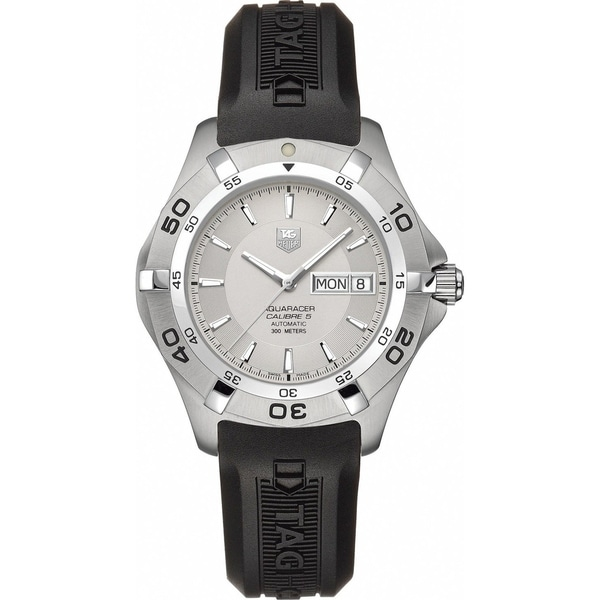 Tag Heuer Men's WAF2011.FT8010 'Aquaracer' Automatic Black Rubber Watch