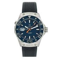 Tag Heuer Men's WAJ1112.FT6015 'Aquaracer' Automatic Black Rubber Watch