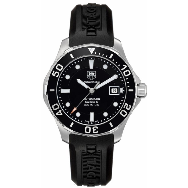 Tag Heuer Men's WAN2110.FT8010 'Aquaracer' Automatic Black Rubber Watch