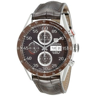 Tag Heuer Men's CV2A12.FC6236 'Carrera' Chronograph Automatic Brown Leather Watch