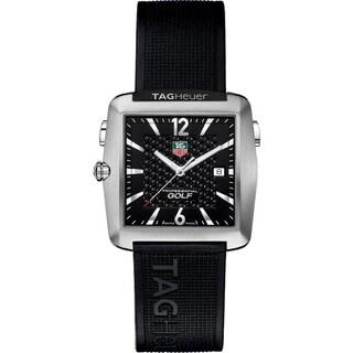 Tag Heuer Men's WAE1111.FT6004 'Professional Golf' Black Rubber Watch
