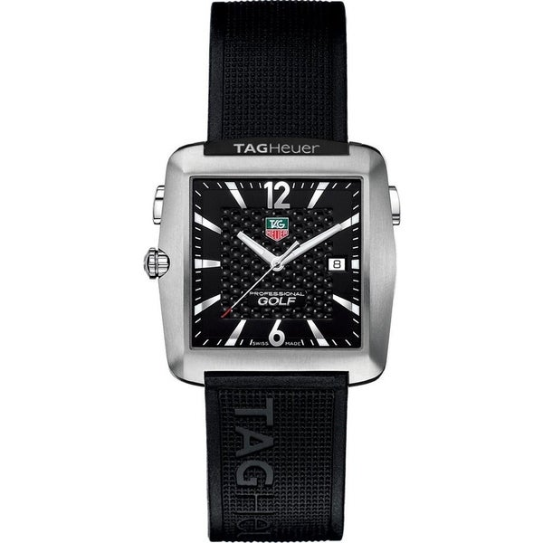 Tag Heuer Men's WAE1111.FT6004 'Professional Golf' Black Rubber Watch