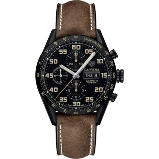 Tag Heuer Men's CV2A84.FC6394 'Carrera Limited Edition' Chronograph Automatic Brown Aged leather Watch