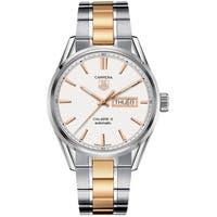 Tag Heuer Men's WAR201D.BD0789 'Carrera' 18kt Rose Gold Automatic Two-Tone Stainless Steel Watch