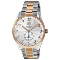 Tag Heuer Men's WAS2151.BD0734 'Carrera' 18kt Rose Gold Automatic Two-Tone Stainless Steel Watch