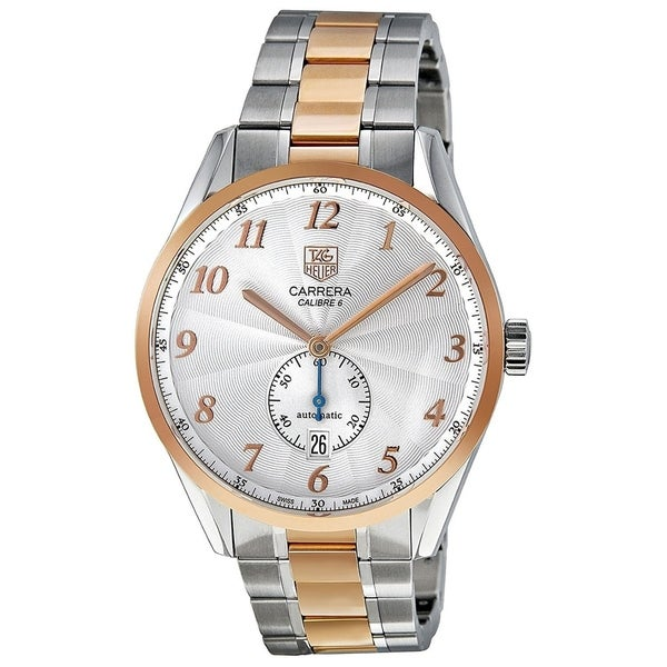 145c14829bf Shop Tag Heuer Men's WAS2151.BD0734 'Carrera' 18kt Rose Gold Automatic  Two-Tone Stainless Steel Watch - Free Shipping Today - Overstock - 22749539