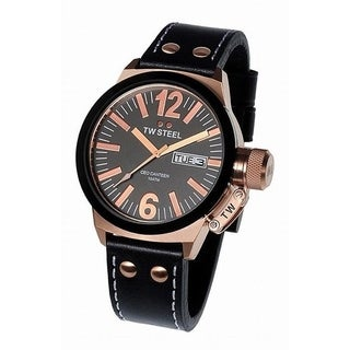 TW Steel Men's CE1039 'Canteen' Black Leather Watch