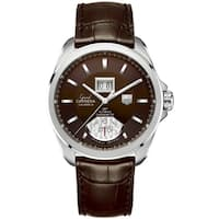 Tag Heuer Men's WAV5113.FC6231 'Grand Carrera' GMT Automatic Brown Leather Watch