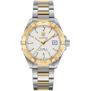 Tag Heuer Men's WAY2151.BD0912 'Aquaracer' 18kt Yellow Gold Automatic Two-Tone Stainless Steel and Gold Watch