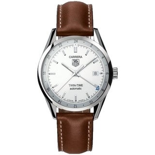 Tag Heuer Men's WV2116.FC6203 'Carrera' Automatic Brown Leather Watch