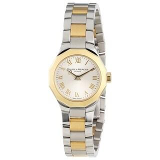 Baume & Mercier Women's MOA08762 'Riviera' 18K Yellow Gold Two-Tone Stainless Steel Watch