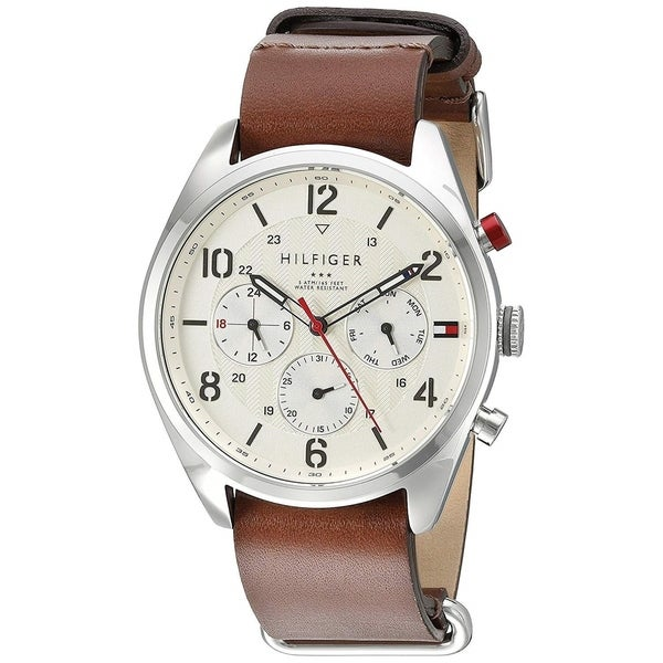 a096aac3 Shop Tommy Hilfiger Men's 1791188 'Corbin' Multi-Function Brown Leather  Watch - Free Shipping Today - Overstock - 22749570