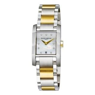 Baume & Mercier Women's MOA08738 'Diamant' Diamond Two-Tone Stainless Steel Watch